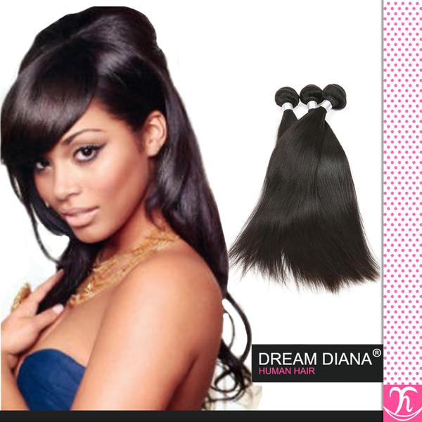 Rosa Virgin Hair 6a Brazilian Straight Virgin Hair 4pcs Brazilian Straight Hair Jet Black Virgin Natural Wave Tape Extensions Hair Weave