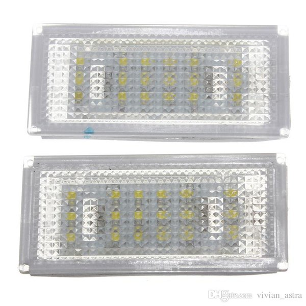 1 Pair 18 LED License Plate Light for BMW 3 Series /E46 2d Coupe 1998 - 2003 /M3 /Pre-Facelift