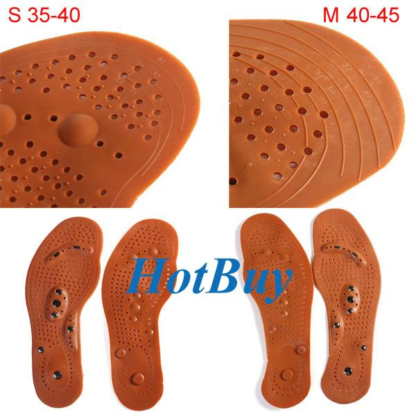 Foot Care Feet Insole Massager Shoe Pads Magnetic Therapy Thenar Massage Healthy 2Pcs/Pair #3778
