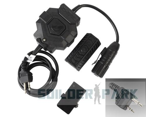 Z-Tactical Wireless Midland Version Pins PTT Adapter for Radio & Headset