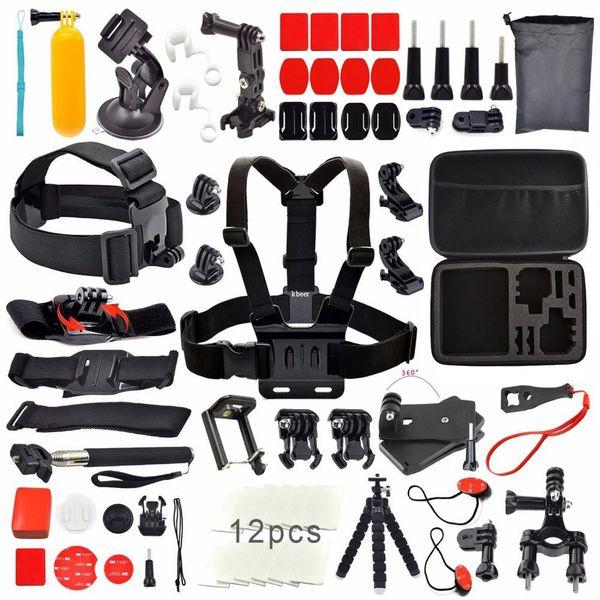 Freeshipping For Gopro kit tripod accessories set for Sj4000 Sj7000 For GoPro Session Hero 5/4 3+ 3 Xiaomi Yi 4k Eken H9 H9R SJCAM