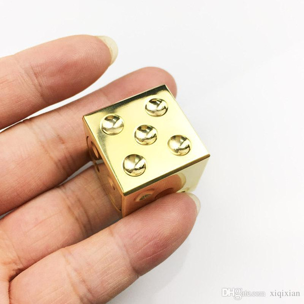 Hot Fid Spinner Dice Gold Excellent Workmanship CNC Stainless