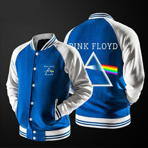 Fashion youth Style Jackets Men 2017 Spring Jackets Men Casual Pink Floyd Printed Patchwork Jacket coats S--5XL, 3 colors