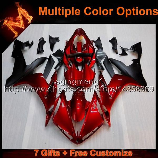 23 cores + 8 rolos red yzf r1 04 05 06 carenagem da motocicleta para yzf yzf 1000 yzf-r1 06 05 04 YZFR1 2004 2005 2006 painéis da motocicleta body kit