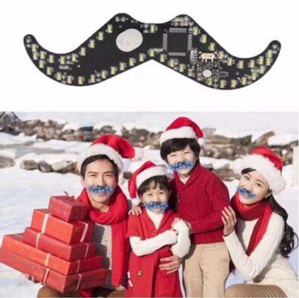 Drôle Interactive LED Moustache Creative Halloween Jouets Xmas Party Moustache Forme Light Up Décor Intérieur Jouets Nouveauté Pour Noël CCA8291 50pcs