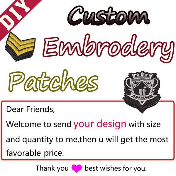 best selling Custom Patches for cloth Top quality Cheapest Embroidered patch Iron on all kinds of Patches DIY Supplier wholesale Badge stickers