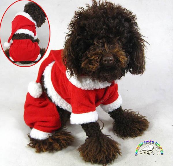 Compre Yorkie Shih Tzu Roupa Do Filhote De Cachorro Roupas De Inverno Para Cães Cão Roupas De Papai Noel Para Trajes De Natal Disfraces Wd009 De