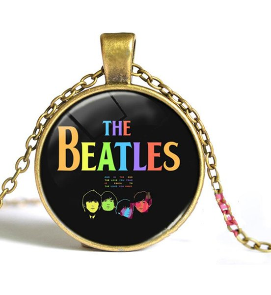 The Beatles Necklace Music Pendant Band Jewelry Brass Silver Colors for choices 5pcs/lot 2016 wholesale