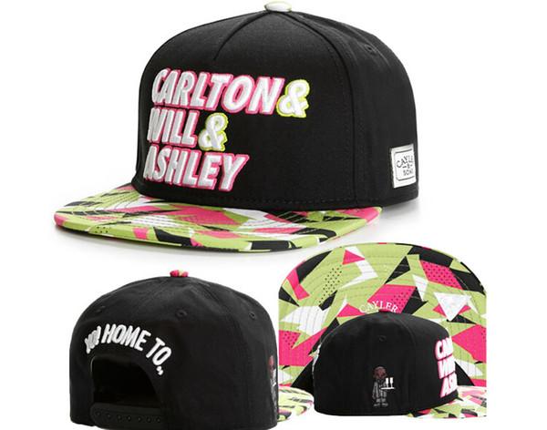 best selling 2020 Cayler And Sons Fresh Prince Carlton Will Ashley 90s Neon Black Snapback Hat Cap,Discount Cheap snapbacks baseball Hot Christmas Sale