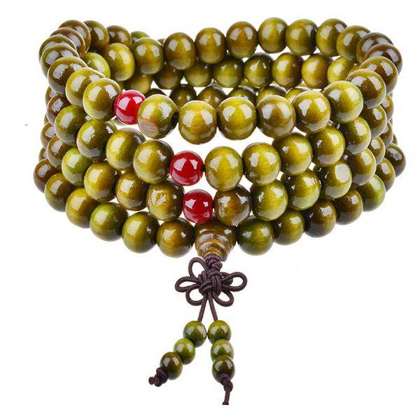 Fashion Tibet Buddhism 108*8mm Wooden Rosary Bead Bracelet Multilayer Bowknot Bracelets Bodhi Sandalwood Bracelet jewelry Luck bracelets