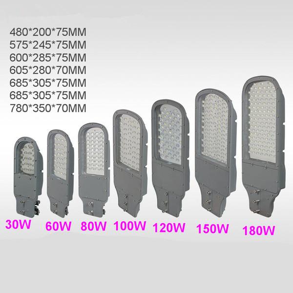 Straßenlaternen des Waschbrett-LED 180W-30W AC220V 90-110LM / W Lampen imprägniern Aluminium IP65 im Freien direkt vom Shenzhen-China-Fabrik-Großverkauf