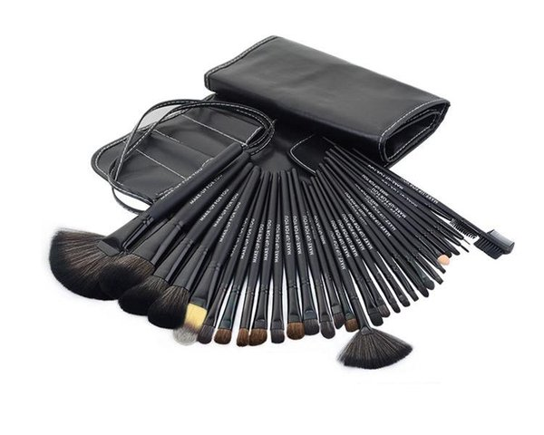 50 sets 32pcs Professional Makeup Brushes Make Up Cosmetic Brush Set Kit Tool + Roll Up Case free shipping