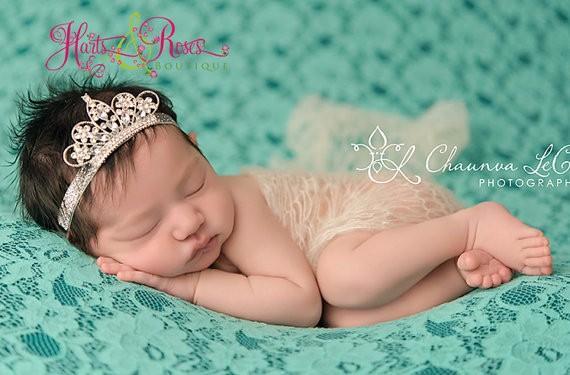 Diamant Krone Baby Stirnband Prinzessin Kind Kristall Diamant Perle Tiara Krone Kopfband Elastisches Haarband Kinder Schmuck Zubehör