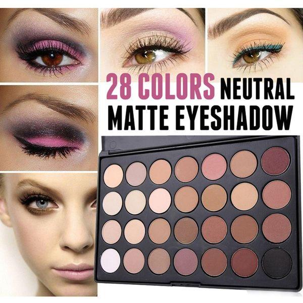 1set Professional 28 Warm colors Neutral Matte Eyeshadow Palette Eye Shadow Makeup # TS61