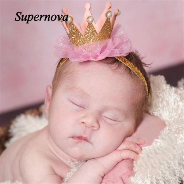 Wholesale- Elastic Flower Crown Headwear hair accessories baby headband cute hair band newborn floral headband WJul27