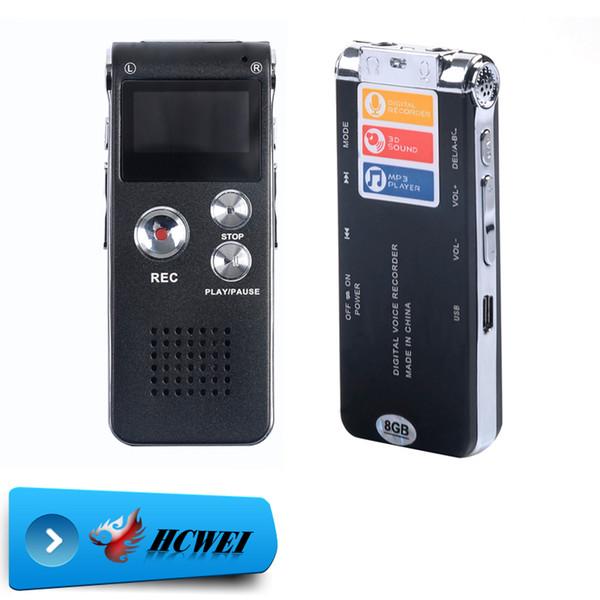 Toptan Satış - 8GB Marka Mini USB Flash Dijital Ses Kaydedici 650Hr Dictaphone MP3 Çalar Gri Kalem Sürücü Grabadora Gravador de voz