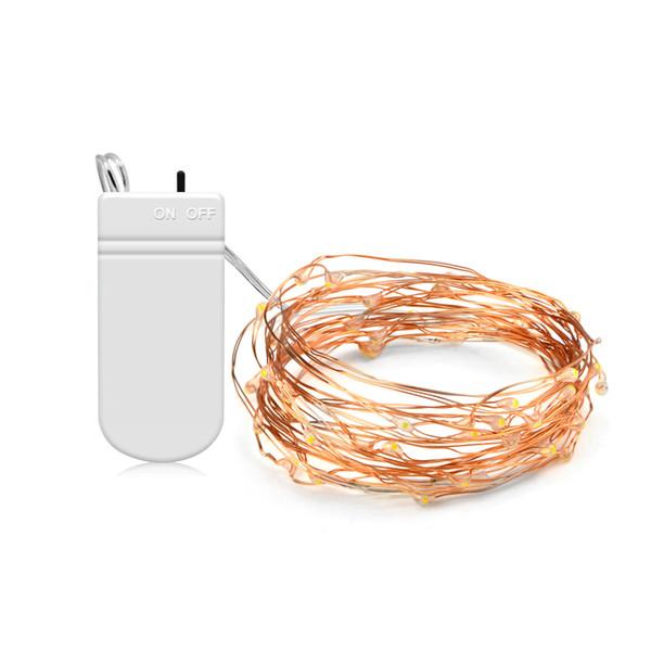 La secuencia de hadas del alambre de cobre de 5M los 2M LED se enciende 50LEDs 20LEDs con el interruptor NO / OFF para la decoración al aire libre de la Navidad del jardín