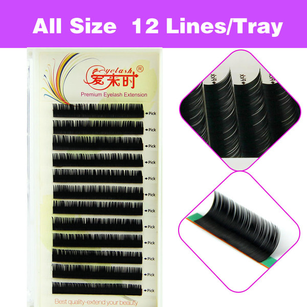 Newcome All Size Individual Volume Eyelash Extension 5trays/lot Makeup Tools 3D Lashes With Free Shipping