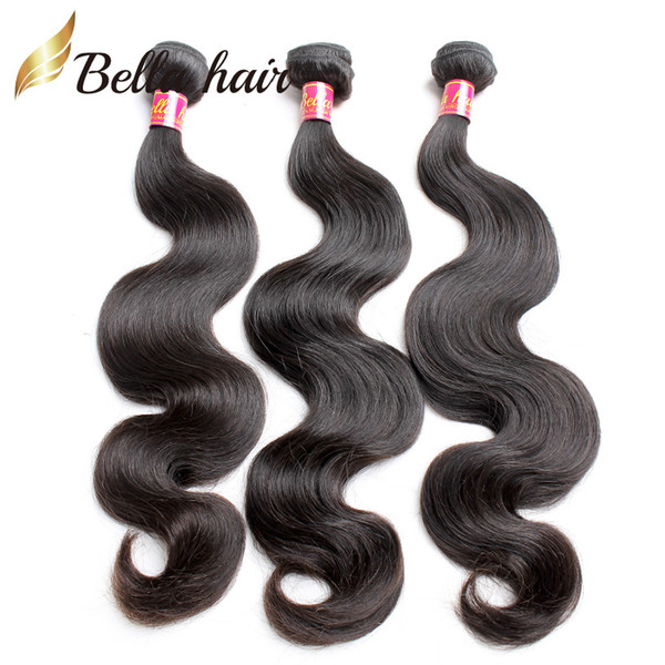 Cheap Virgin Human Hair Indian European Peruvian Brazilian Malaysian Cambodian 3pcs Bundle Hair Double Weft Extensions Body Wave Bellahair
