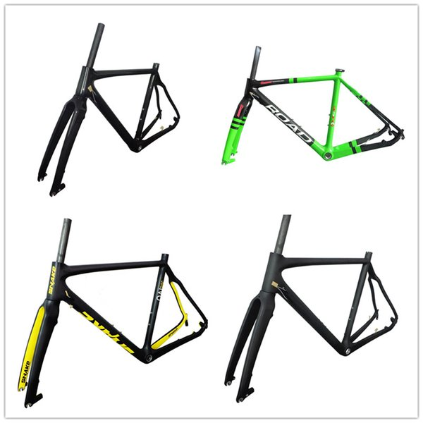 RB211 disc brake road frameset carbon fiber road bicycle frame green/yellow/matt/glossy 51/53/55/57cm