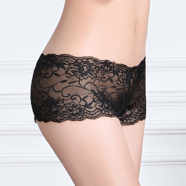 2015 New pretty lace boxer short sheer lace hipster knickers boyleg lady panties underwear hot lingerie intimate undergarment hot underpants