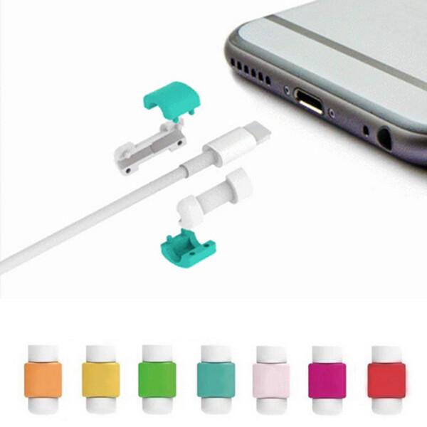 100 pcs / sac Iphone USB Câble Casque Écouteur Fil Cordon De Protection Pour iPhone 5 5S 6 6 S Plus ipad ipod Samsung