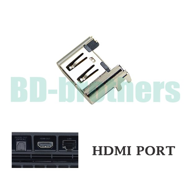 Original Silver HDMI Port Socket Interface Connector for Playstation 4 PS4 Slim 100pcs/lot