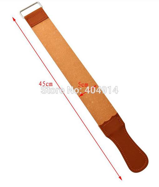 top popular Wholesale-Sharpening Razor Shaving Leather Strop For Barber Straight Razor Fold Knife Sharpening Shave TY-45 2021