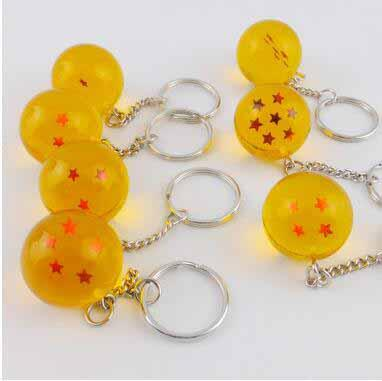 Wholesale Creative Gift Gragon Ball Key Chain Japanese Cartoon Anime Toys Party Favor Key Ring Novelty Children's Toys Gragon Ball
