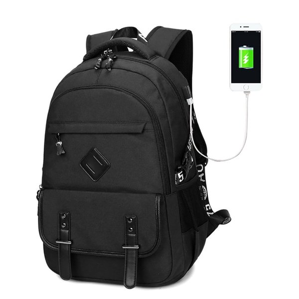 c13f35dcd7b0 2019 Business Laptop Backpack, Waterproof Oxfords Travel Daypack, Casual  Computer Backpacks With USB Charging Port For Men, For 15.6 Inch Laptop  From ...