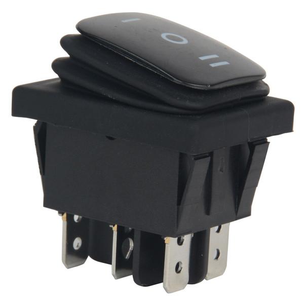 Di alta qualità 1 pz 12 V 12A Car Boat ON-OFF-ON SPST Blu 6 Pin Rocker Toggle Switch 3 Posizioni Interruttori in Metallo di Plastica Impermeabile