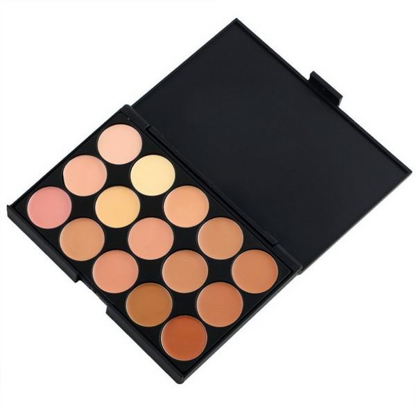 Vente en gros - 1 PC 15 couleurs professionnelles palette de correcteur imperméable Contour palette Fondation Femmes Facial Contouring Maquillage Crème