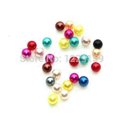 free shipping 120pcs 5mm mix color round pearl shape Birthstone floating charms for floating locket crystal sew on beads