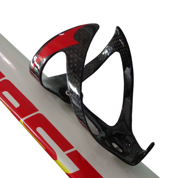BC237 real carbon fiber bike bottle cage super light red color painted bicycle holder hot sale bike accessories