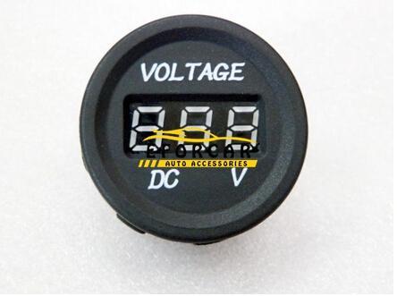 Otomobil Parçaları Ölçer Volt Metre LED 12 V-24 V Su Geçirmez Araba Motosiklet DC Dijital Ekran Voltmetre Için monitör