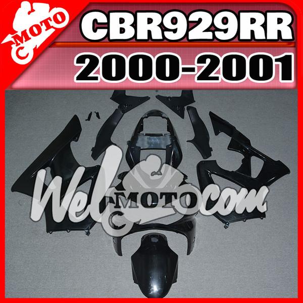 En stock Welmotocom Injection Mold Sin pintura (Sin pulir) Carenados para Honda CBR900RR 929 CBR929RR CBR 929RR 2000-2001 00 01 H90W00