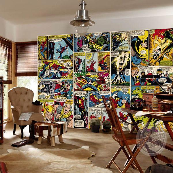 top popular Marvel Comics Wallpaper Custom 3D Wall Murals Captain America Hulk Photo wallpaper Kids Boys Bedroom Office Shop Art Room decor Super hero 2019