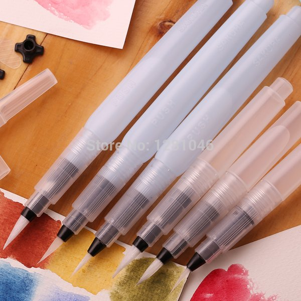 Wholesale-Geniune Sakura Large Capacity Water Brush Calligraphy Paintbrush for Watercolor Perfect for Outdoor Sketch Painting Supplies