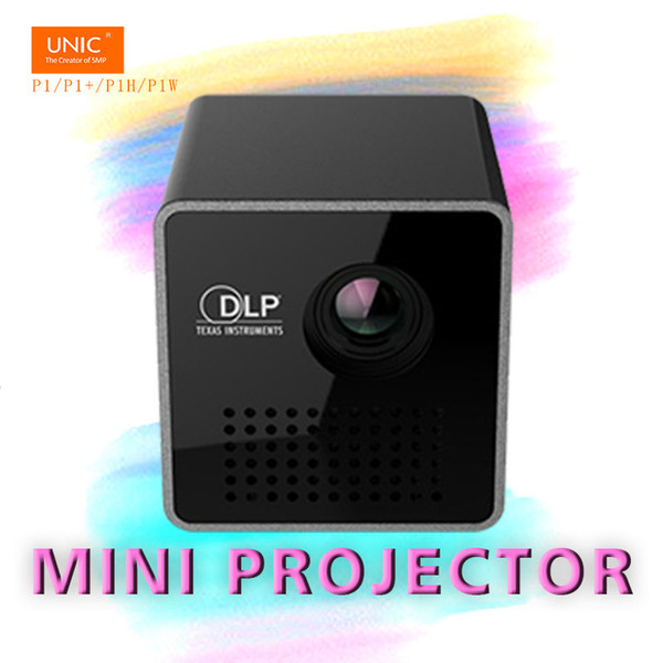 Wholesale- Mini toys gifts Pico P1/P1+Handhold HD DLP LED 3D Projector beamer proyector with Battery Built-in withTF /Micro USB
