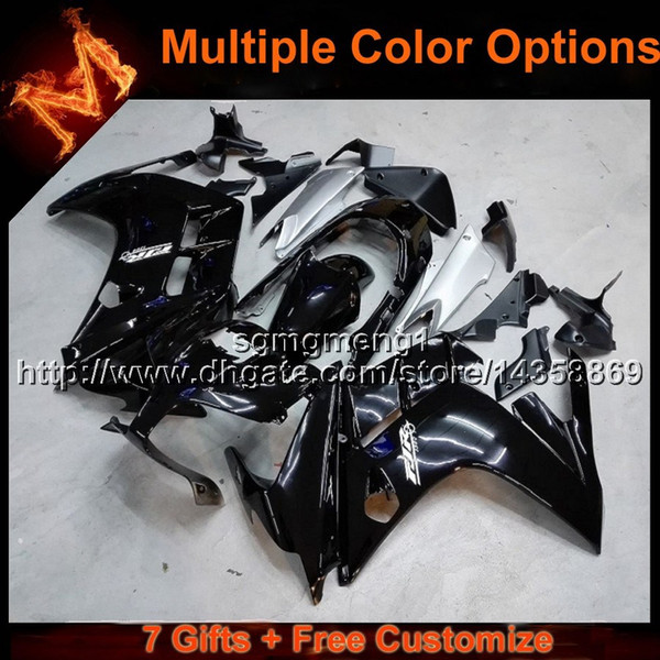 23colors+8Gifts BLACK motorcycle cowl for Yamaha FJR1300 2002-2006 02 03 04 05 06 FJR 1300 2002 2003 2004 2005 2006 ABS Pla