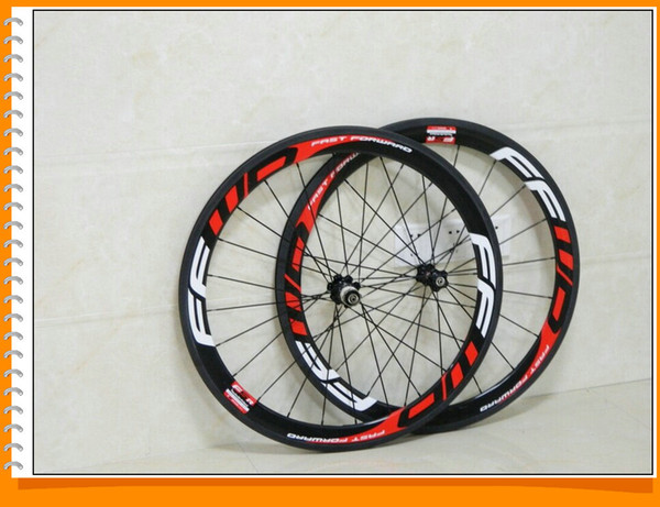 Red Ffwd Fast Forward F5R 50mm Carbon Bicycle Wheels Clincher Tubular Road Cycling Bike Wheelset 2017