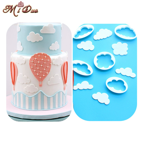 All'ingrosso-New Cloud Plastic Cake / Cookie / Biscotti Cutter Mold Sugarcraft Cake Decorating Fondant Glitters Cutters Cake Decoration Mold