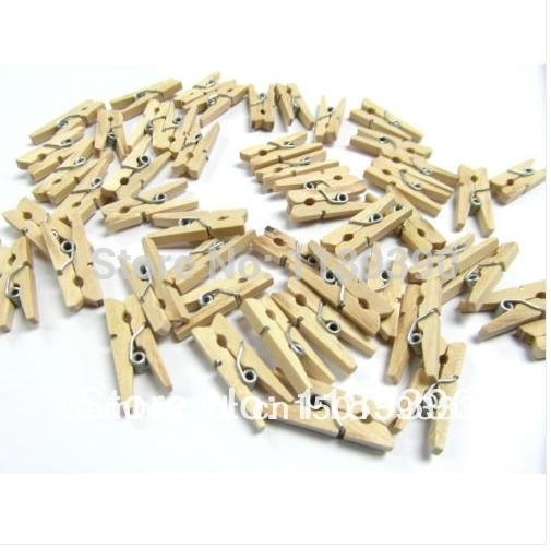 New Art Artigianato Regali fai da te Mini Wooden Clips Pioli Photo Paper Decoration Tool 3cm 500 pz / lotto Drop Shipping