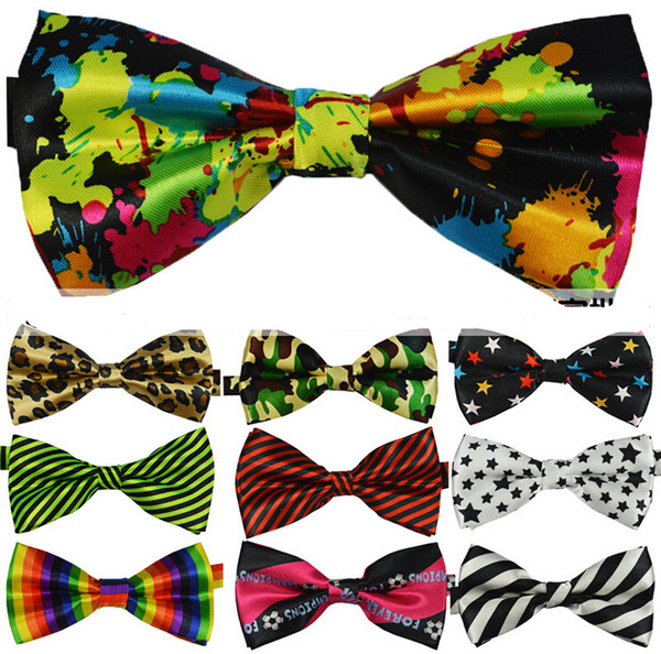 top popular 2017 New High Quality Novelty Mens Unique Tuxedo Bowtie Bow Tie Necktie 25 color choosable 2020