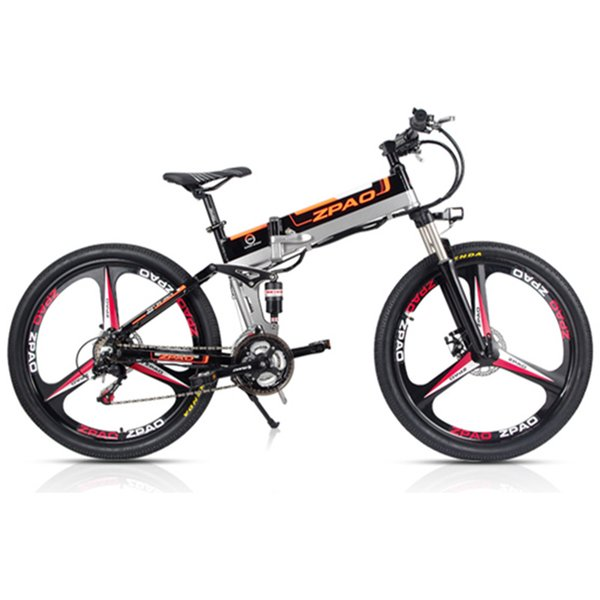 ZPAO 21 Speed, 26 inch, 48V/10A 350W, Folding Electric Bicycle, Mountain Bike, Lithium Battery, Aluminum Alloy Frame, Disc Brake