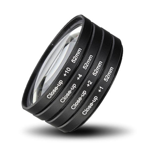 best selling Freeshipping 52MM Camera Macro Close Up Filter Lens Kit +1 +2 +4 +10 for NIKON D7100 D5100 D5200 D3300 D3200 D3100 D90 D80 D800 D700 D600