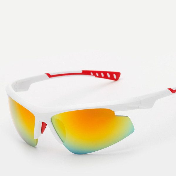 New Cycling Eye wear Sunglasses Big Fashion Rectangle Sports Bicycle Glasses Gafas Semi-Rimless Men Women Mountain Bike Goggles With Bag
