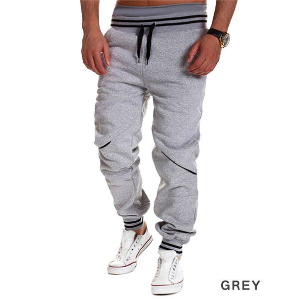 Wholesale-2016 عارضة رجل ركض تقسم رياضة الركض السراويل جديد رجل الهيب هوب السراويل الطويلة الجري sweatpants pantalon أوم أبيض أسود
