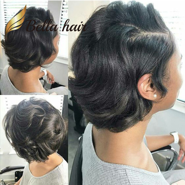 Short Curly Lace Front Bob Cut Hairstyles Human Hair Full Lace Wig For Black Women BellaHair