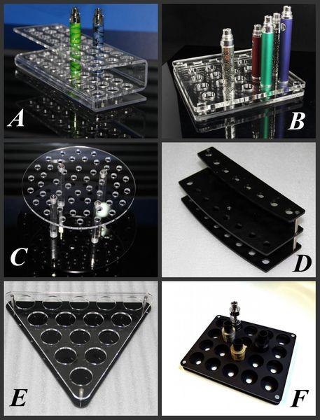 Espositore per sigarette in acrilico e trasparente supporto per ripiano in nero supporto per espositore scatola per display per batteria ecig atomizzatore rda 510 drip tip